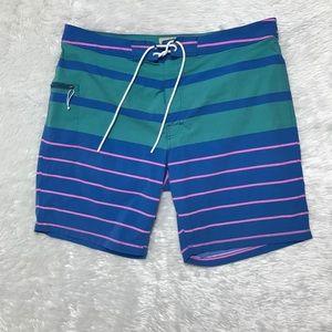 J Crew Striped Swim Trunks Sz36